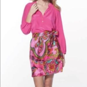 Lilly Pulitzer SILK Hot Pink Anamaria Skirt